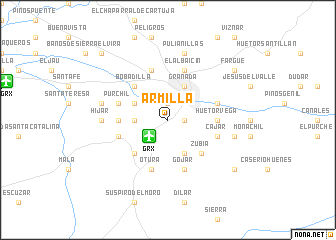 map of Armilla
