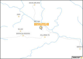 map of Armungia
