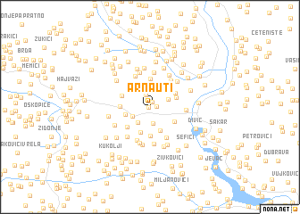 map of Arnauti