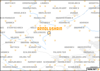 map of Arnoldshain