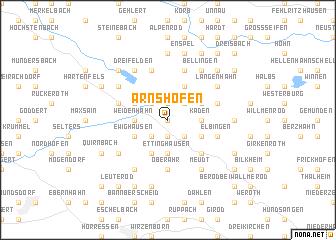 map of Arnshöfen
