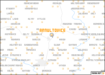 map of Arnultovice