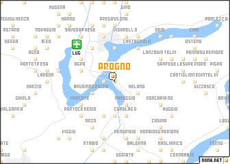 map of Arogno