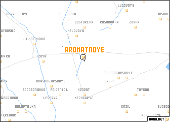 map of Aromatnoye
