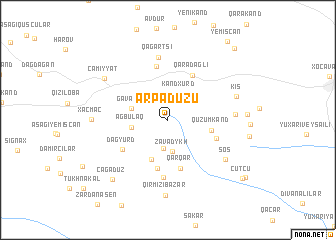 map of Arpadüzü