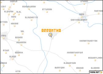 map of Ar Ramthā