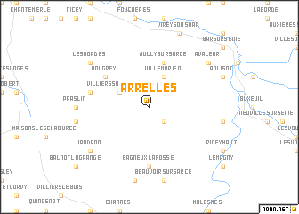 map of Arrelles