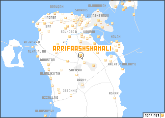 map of Ar Rifā' ash Shamālī