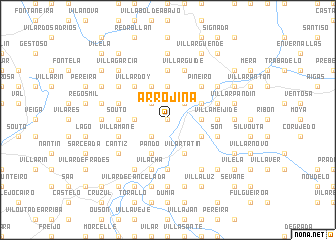 map of Arrojiña