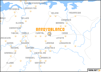 map of Arroyo Blanco
