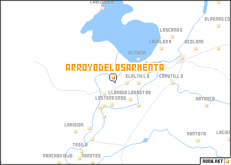 map of Arroyo de los Armenta
