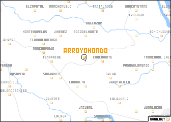 map of Arroyo Hondo