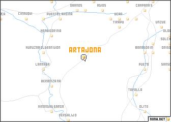 Artajona Spain Map Nona Net