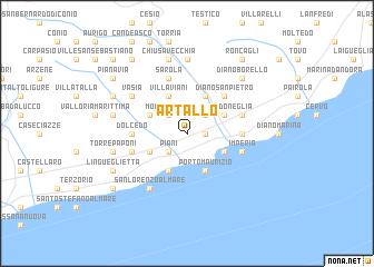map of Artallo