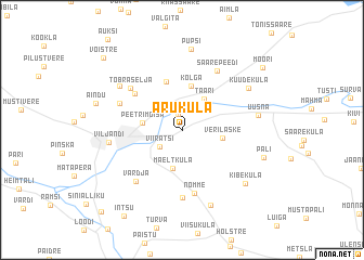 map of Aruküla