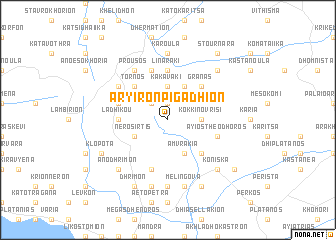 map of Aryirón Pigádhion