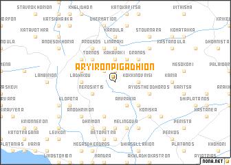 map of Aryirón Pigádhion