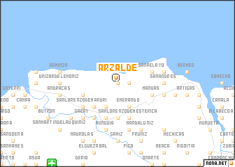 map of Arzalde