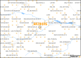 map of Arzberg