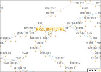 map of Arzl im Pitztal