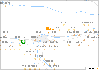 map of Arzl