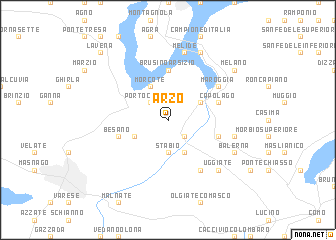 map of Arzo