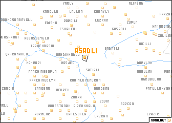 map of Əsǝdli