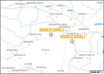 map of Aşağı Cürǝli