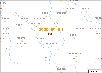 map of Aşağıkışlak