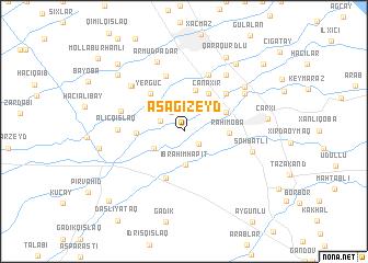 map of Aşağı Zeyd
