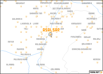 map of 'Asal Sar