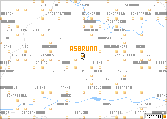 map of Asbrunn