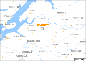 map of Asbury
