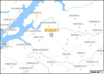 map of Asbury