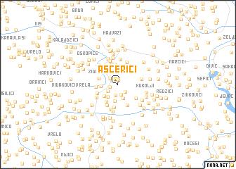 map of Ašćerići