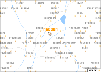 map of Asgoun
