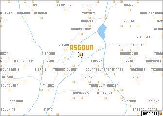 map of Asgoun