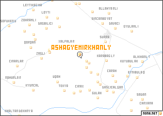 map of Ashagy Emirkhanly