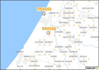 Ashdod (Israel) map - nona.net