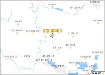 map of Ashippun