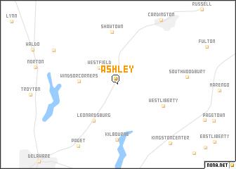 Ashley Ohio Map.Ashley United States Usa Map Nona Net
