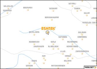 map of Āshnāk