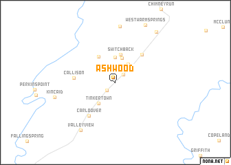 map of Ashwood