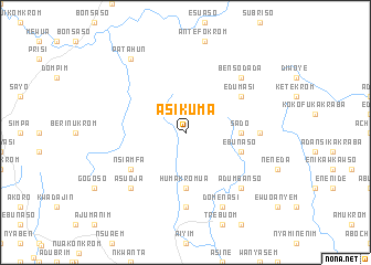 map of Asikuma