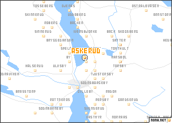 map of Askerud