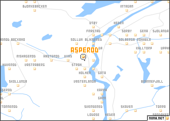 map of Äsperöd