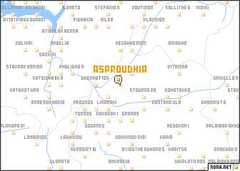 map of Asproúdhia