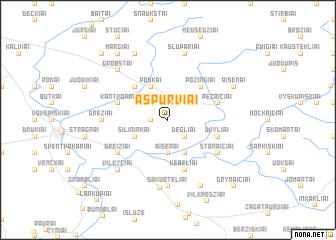 map of Ašpurviai