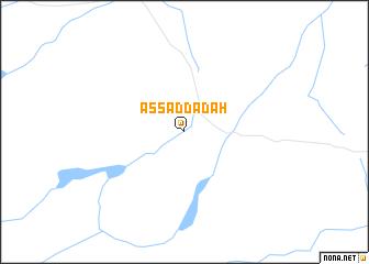 map of As Saddādah