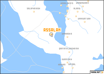 map of As Salām